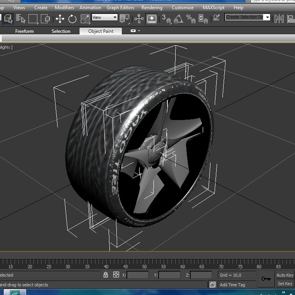 racing tire 3d model 3ds max fbx ma mb obj 157433