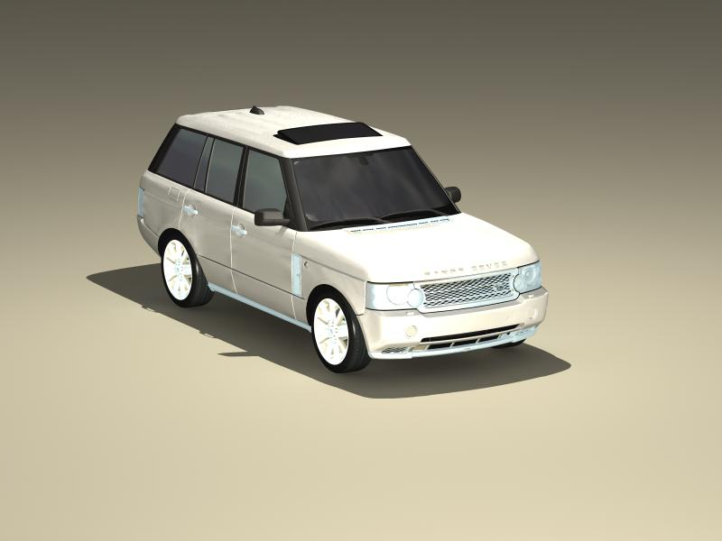 range rover supercharged 2009 3d model 3ds max fbx obj 147963