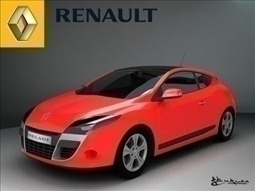 renault megane coupe 2009 3d model max 99233