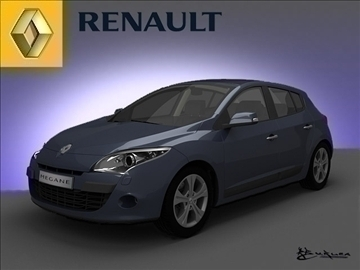 renault megane hečbeks 2009 3d modelis max 101496