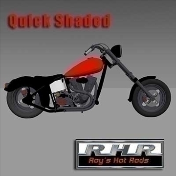 rhr custom chopper 3d model lwo obj 82097