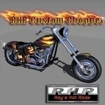 rhr custom chopper 3d model lwo obj 82105