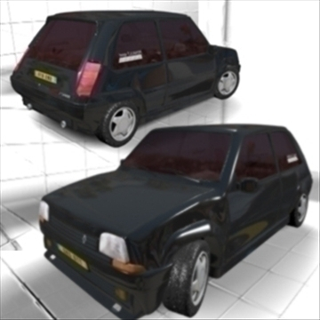 super 5 gt turbo 3d model max jpeg jpg 111541