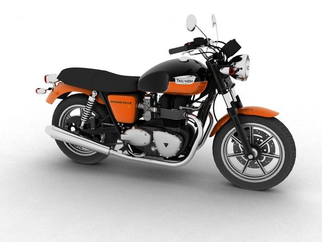 triumph bonneville se 2012 3d model 3ds max c4d obj 100680
