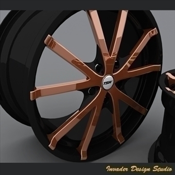 tsw rocket 5 auto rims 3d model 3ds max other 107075