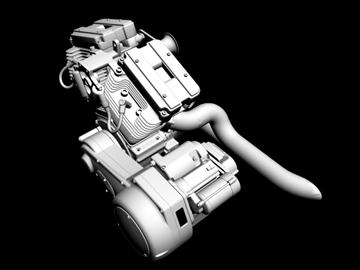 v-twin motor za motocikle 3d model 3ds 87983