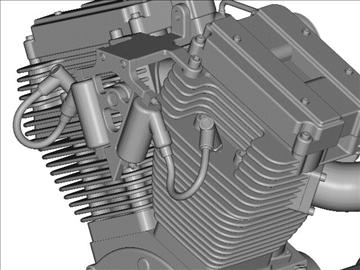 v-twin motor za motocikle 3d model 3ds 87985