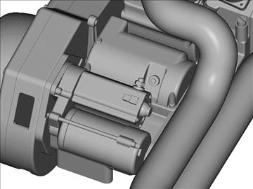v-twin motor za motocikle 3d model 3ds 87986