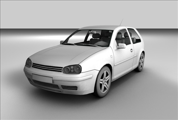 volkswagen golf 3d model 3ds c4d texture 85089