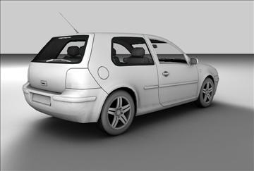 volkswagen golf 3d model 3ds c4d texture 85090