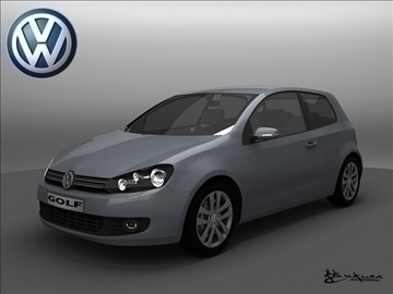 Volkswagen Golf 3doors 2009 3d загвар max 101489