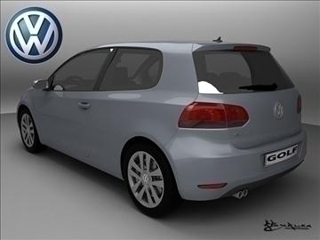 volkswagen golf vi 3doors 2009 3d model max 101490