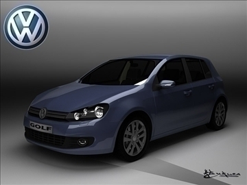 Volkswagen Golf 5doors 2009 3d загвар max 100820
