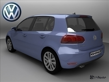 volkswagen golf vi 5doors 2009 3d model max 100821