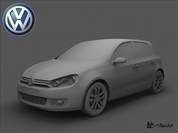 volkswagen golf vi 5doors 2009 3d model max 100822