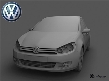 volkswagen golf vi 5doors 2009 3d model max 100823