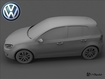 volkswagen golf vi 5doors 2009 3d model max 100824