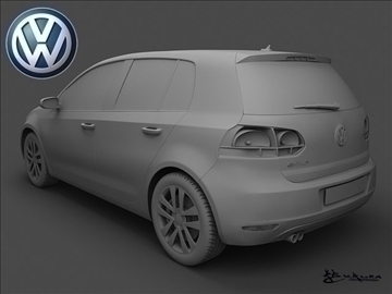volkswagen golf vi 5doors 2009 3d model max 100825