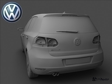 volkswagen golf vi 5doors 2009 3d model max 100826