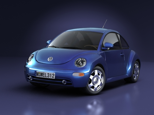 volkswagen new beetle 3d model 3ds max obj 124768