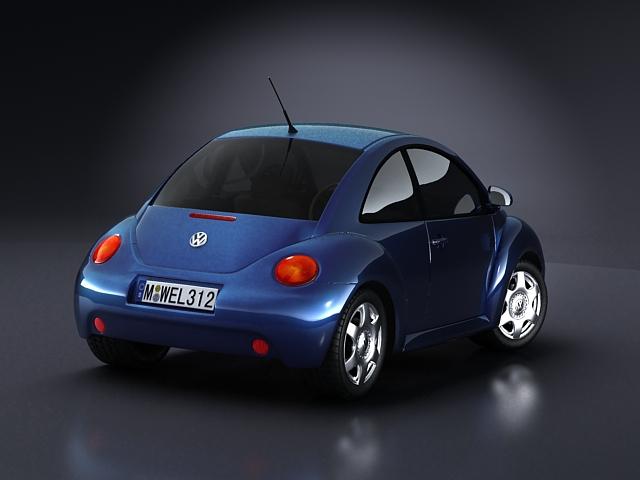 volkswagen new beetle 3d model 3ds max obj 124769