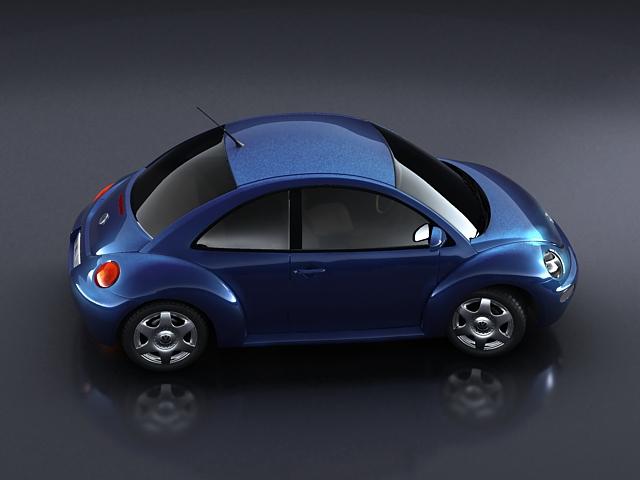 volkswagen new beetle 3d model 3ds max obj 124770