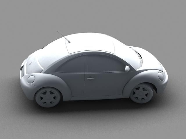 volkswagen new beetle 3d model 3ds max obj 124771