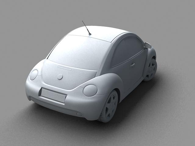 volkswagen new beetle 3d model 3ds max obj 124772