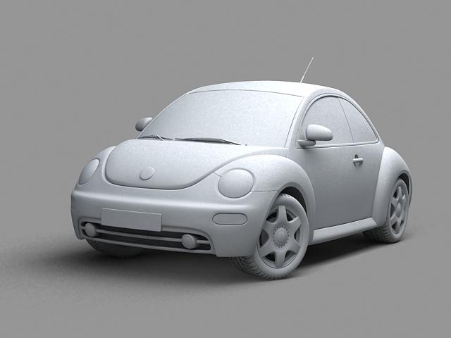 volkswagen new beetle 3d model 3ds max obj 124773