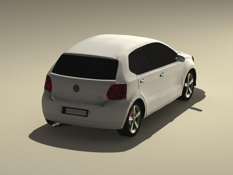 volkswagen polo 2010 3d model 3ds max fbx obj 147973