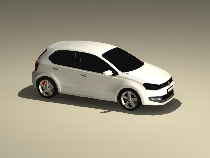 volkswagen polo 2010 3d model 3ds max fbx obj 147974