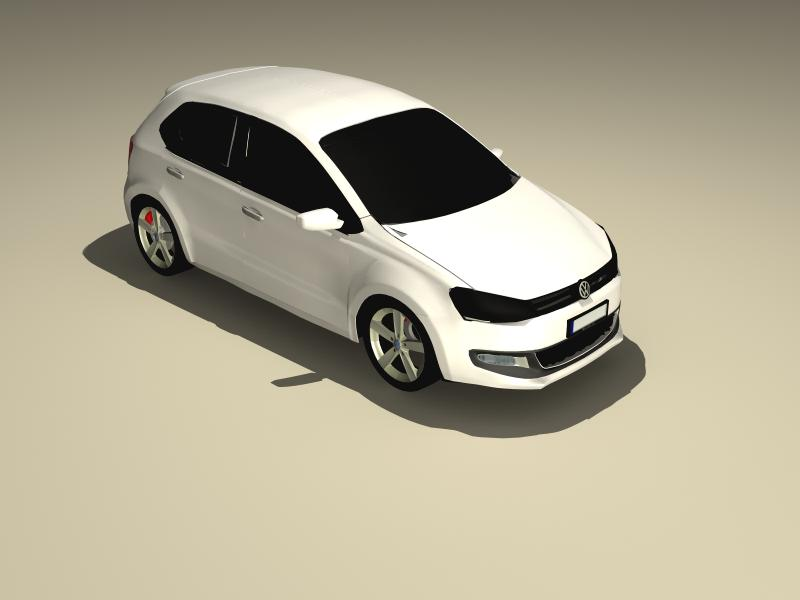 volkswagen polo 2010 3d model 3ds max fbx obj 147977