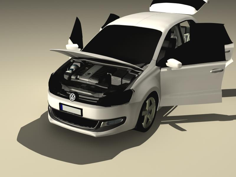 volkswagen polo 2010 3d model 3ds max fbx obj 147978
