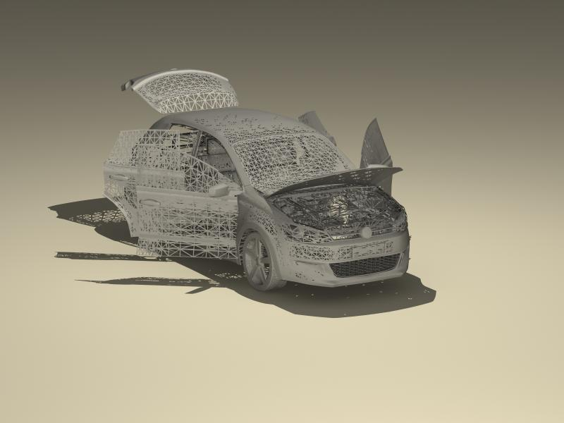 volkswagen polo 2010 3d model 3ds max fbx obj 147979
