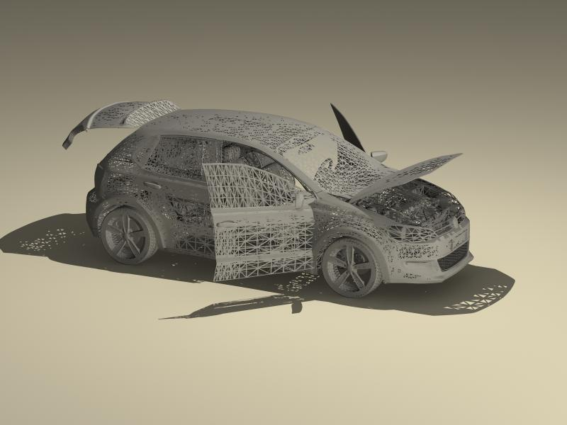 volkswagen polo 2010 3d model 3ds max fbx obj 147980