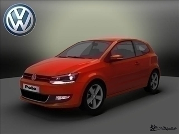 volkswagen polo 3doors 2010 3d model max 103720