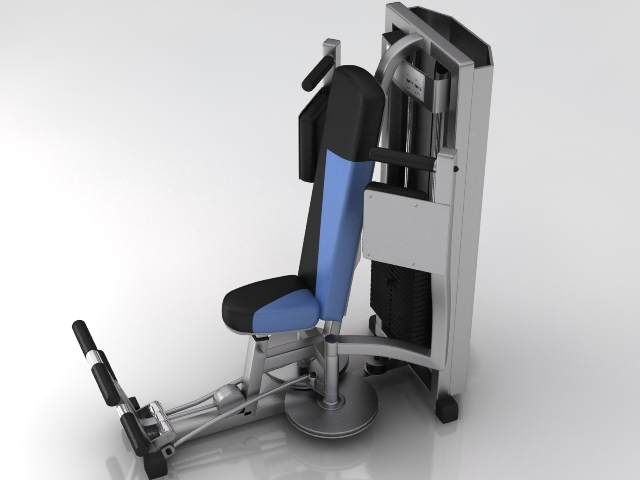 fitness gym equipment 3 3d model 3ds max obj 121116