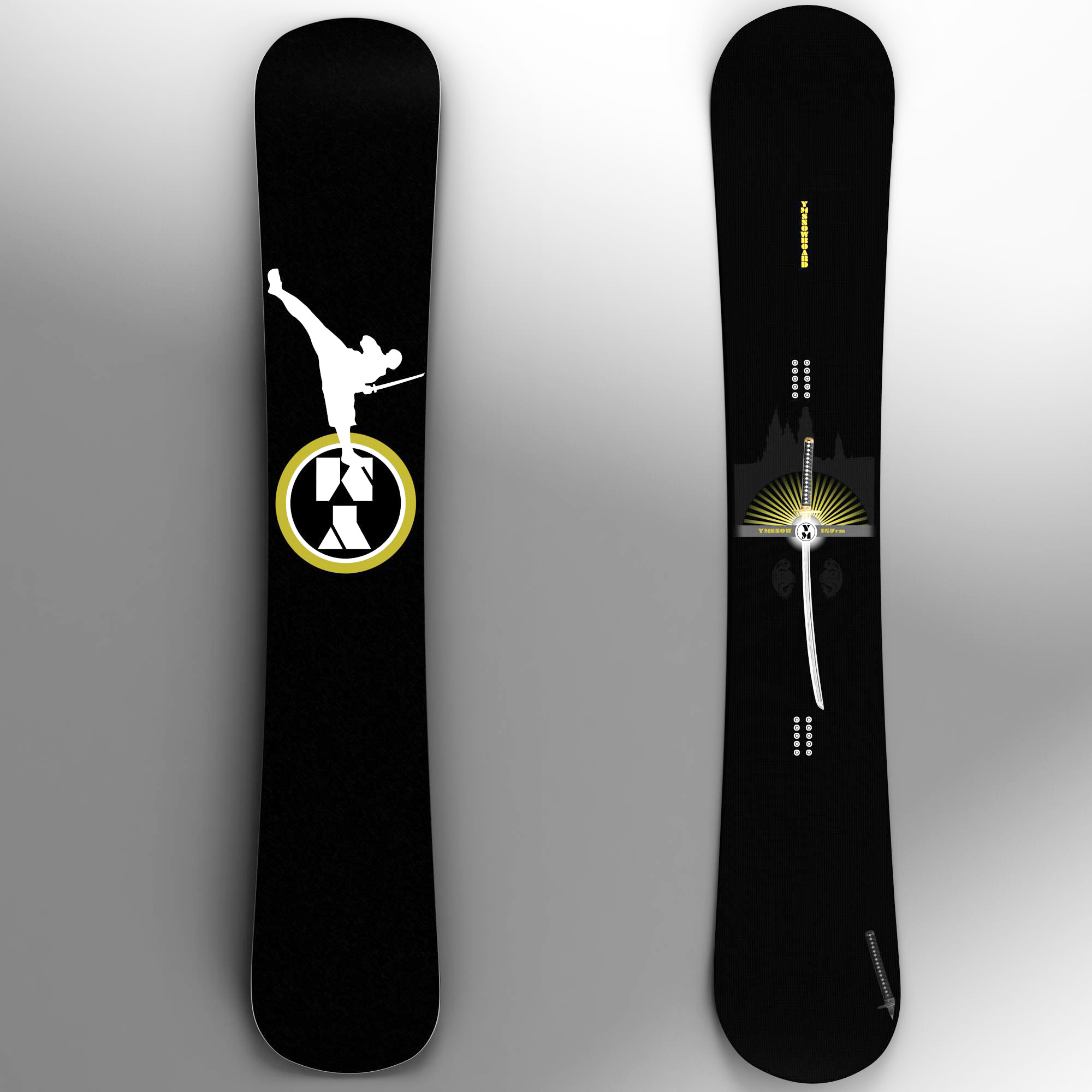 snowboard 3d model 3ds max fbx ma mb obj 157535