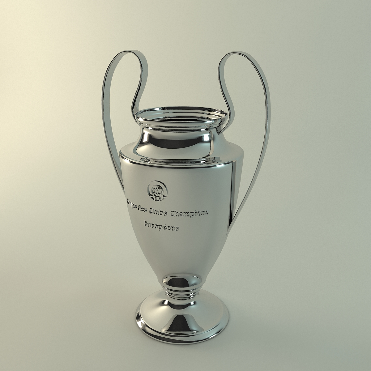 european uefa cup 3d model 3ds max fbx c4d obj 115653
