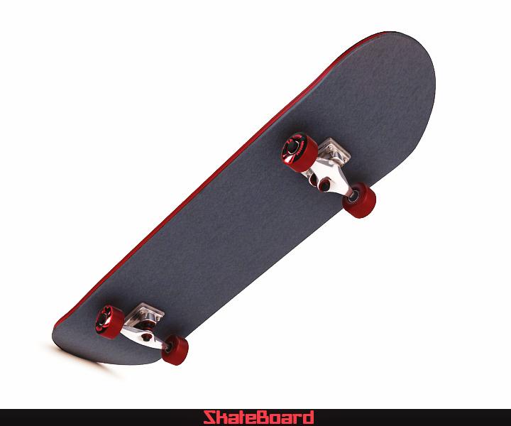 skate board 3d model 3ds max fbx obj 116821