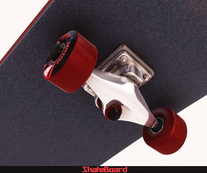 skate board 3d model 3ds max fbx obj 116823