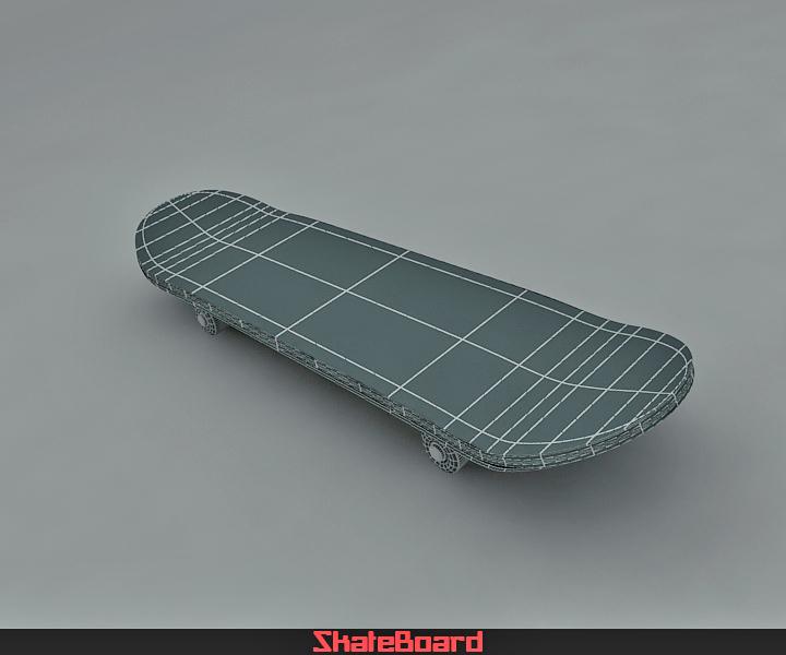 skate board 3d model 3ds max fbx obj 116824