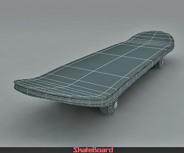 skate board 3d model 3ds max fbx obj 116825