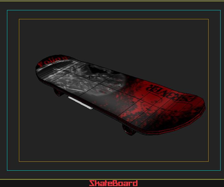 skate board 3d model 3ds max fbx obj 116826