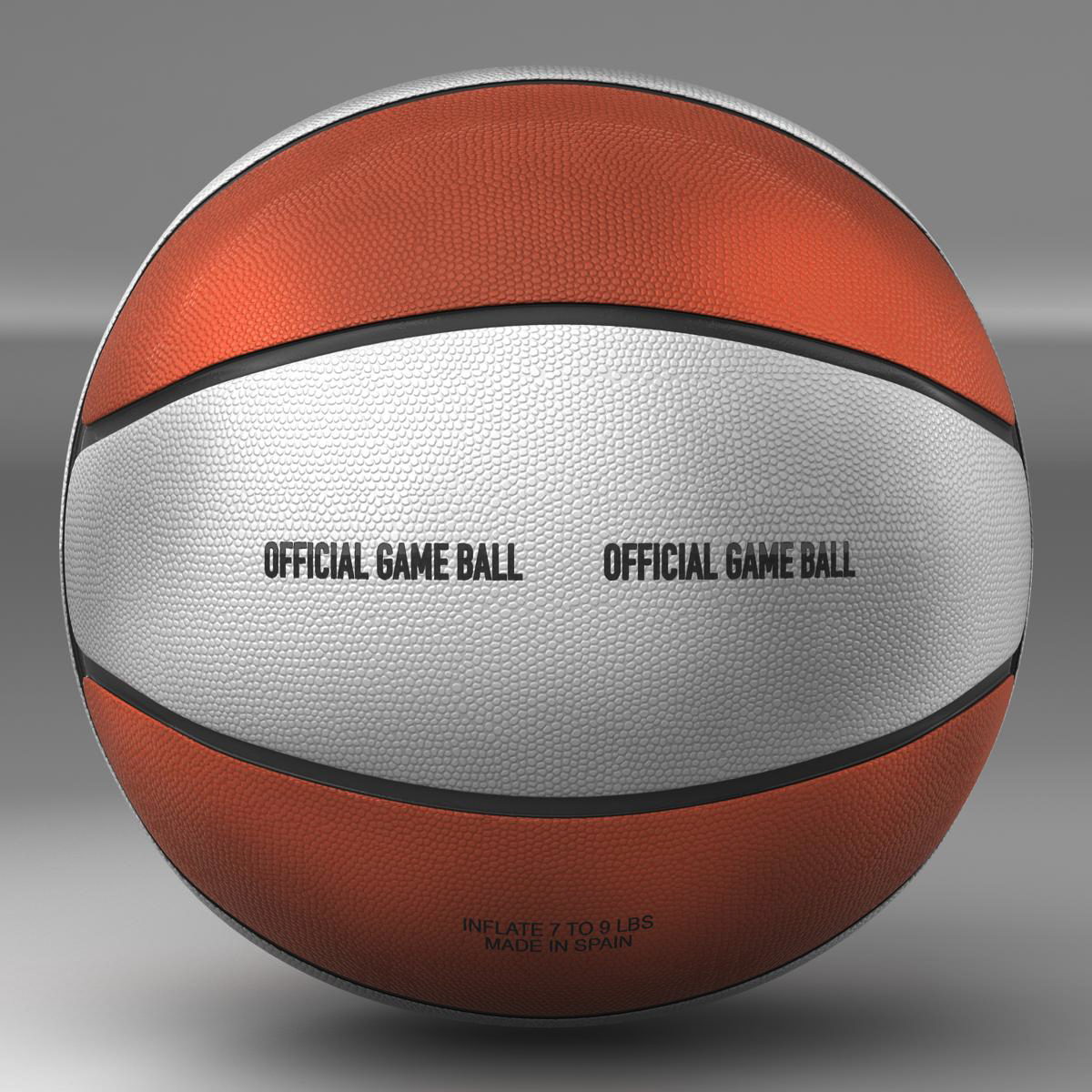 basketball ball 4l bicolor 3d model 3ds max fbx c4d ma mb obj 165642