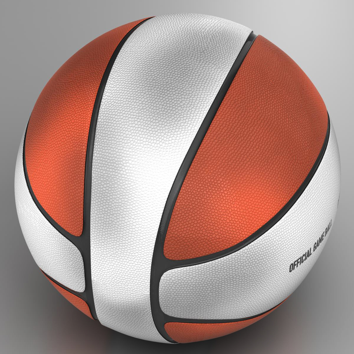 basketball ball 4l bicolor 3d model 3ds max fbx c4d ma mb obj 165643