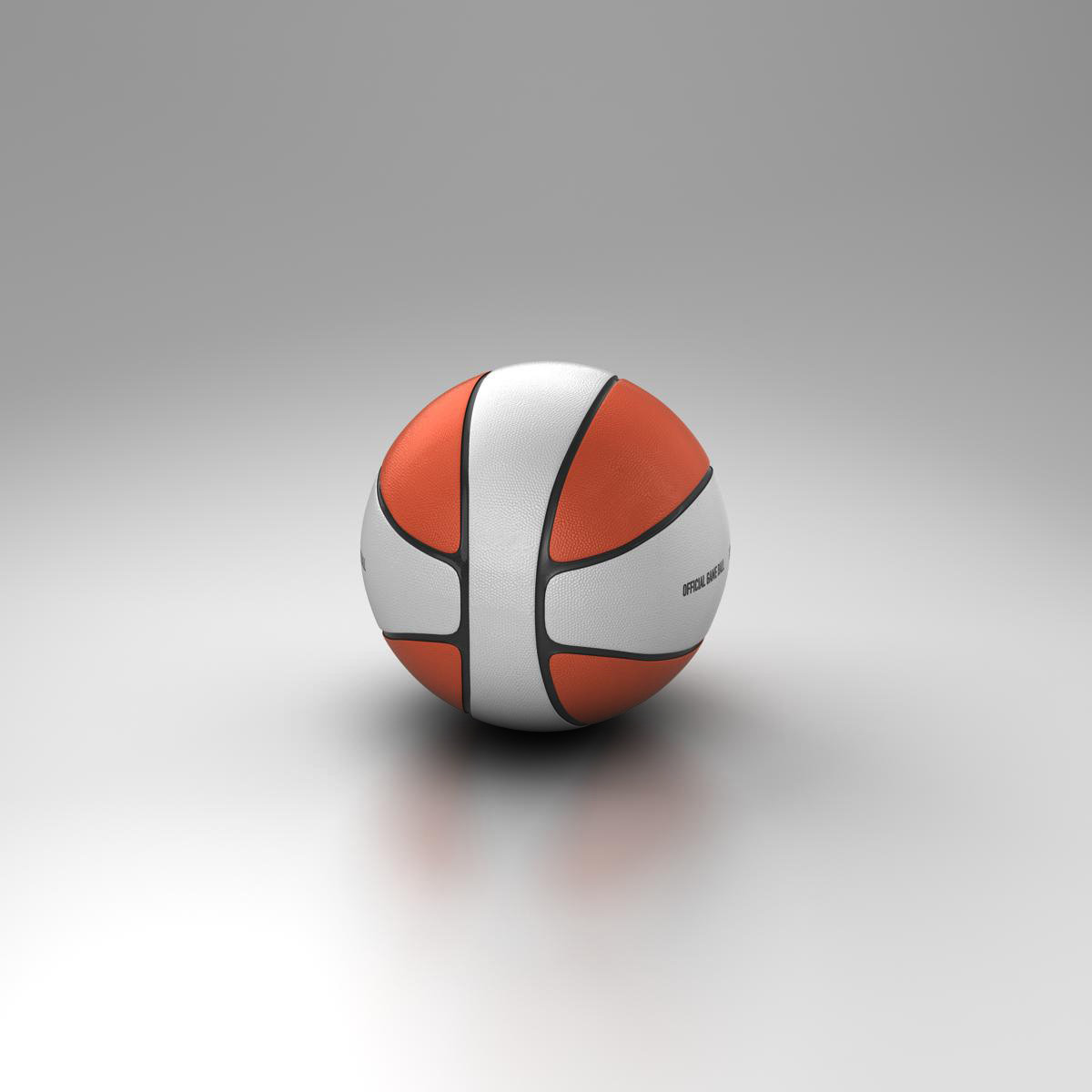 basketball ball 4l bicolor 3d model 3ds max fbx c4d ma mb obj 165648