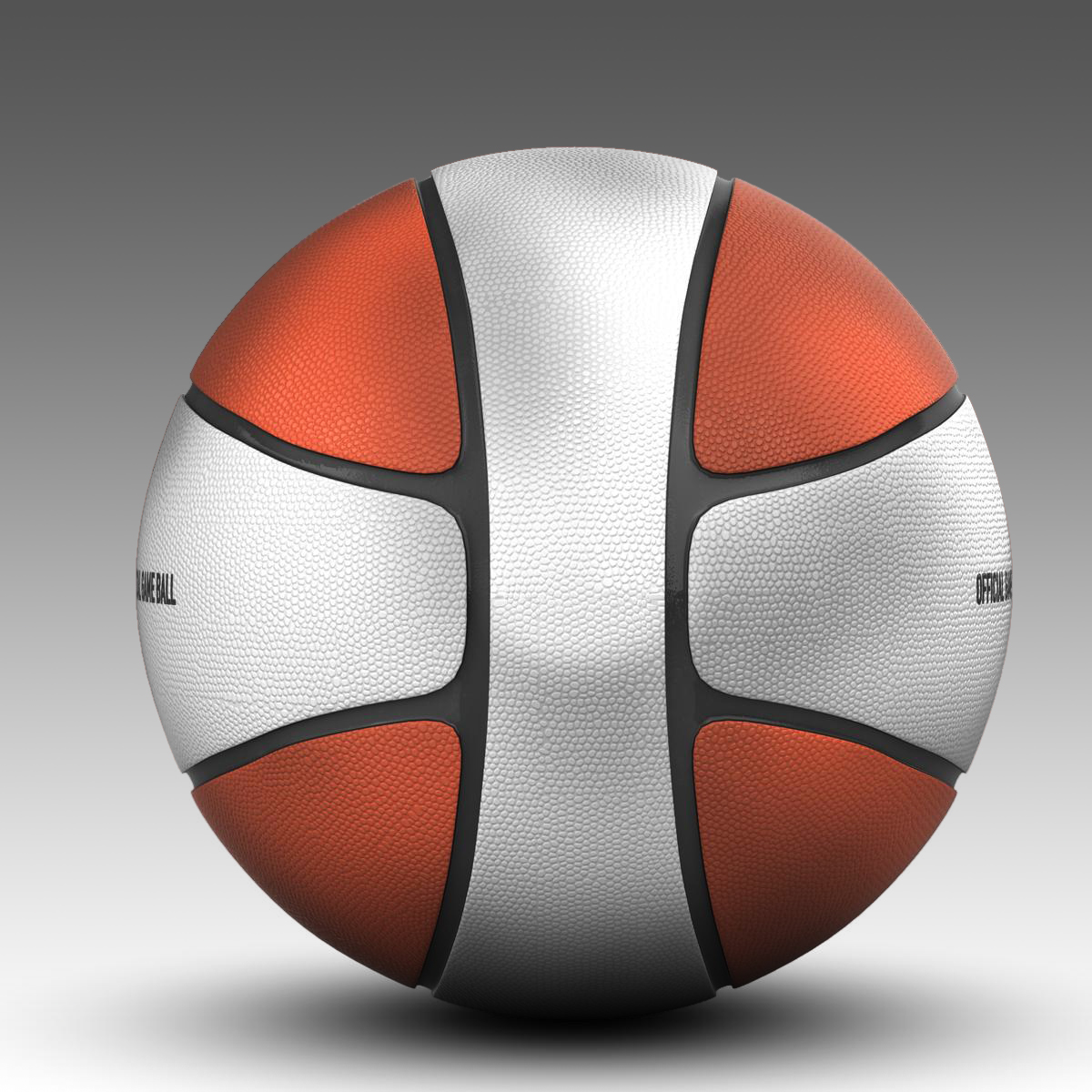 basketball ball 4l bicolor 3d model 3ds max fbx c4d ma mb obj 165649