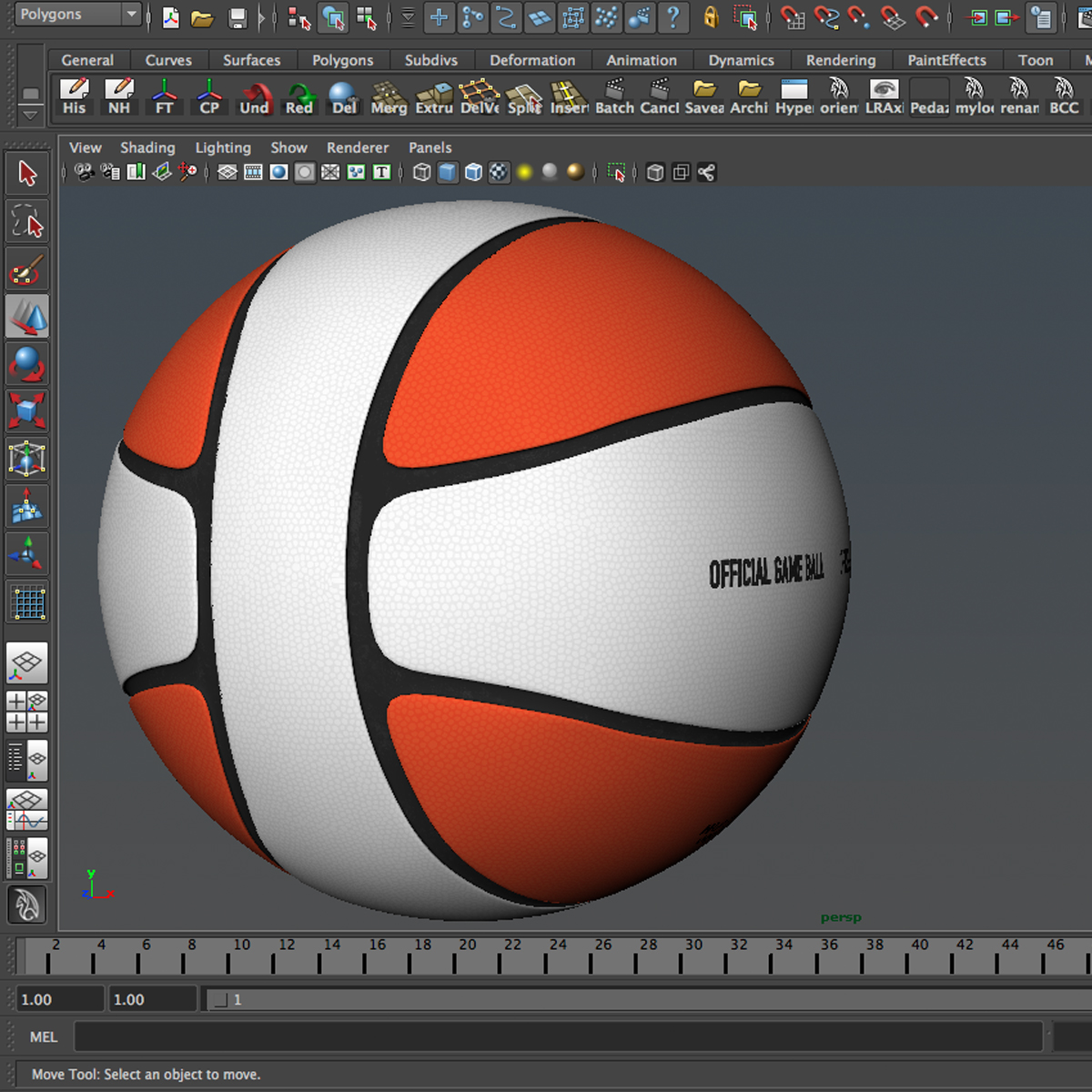 basketball ball 4l bicolor 3d model 3ds max fbx c4d ma mb obj 165650