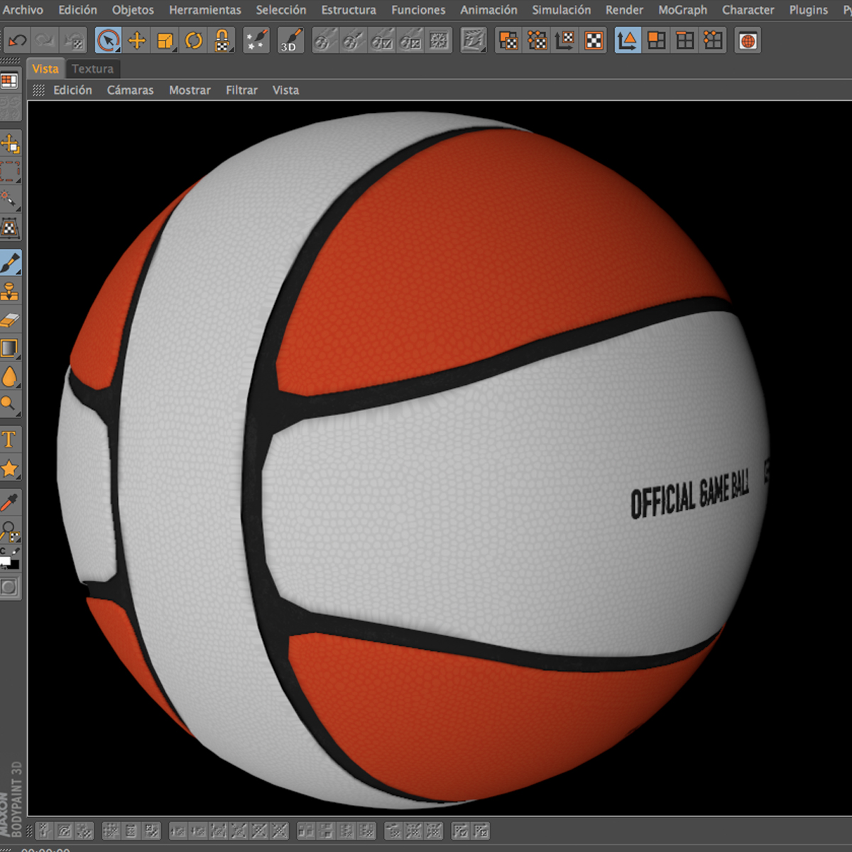 basketball ball 4l bicolor 3d model 3ds max fbx c4d ma mb obj 165651